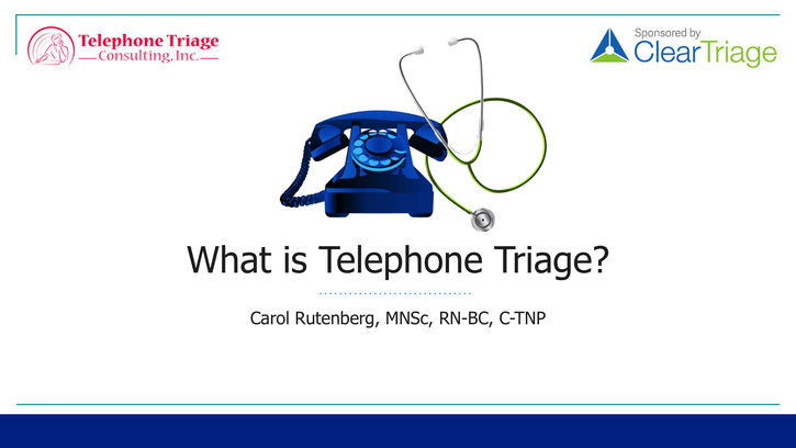 what is telephone triage